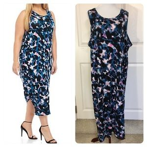 New! RACHEL Rachel Roy Printed Drape Back Dress